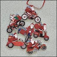 Decorações de Natal Festivo Festa Fontes Home Gardenchristmas Santa Ornamentação Motor Família Resina Decoração Presente Pingente Personalizado P