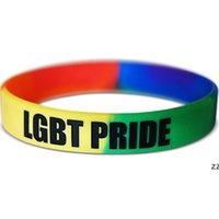 13 디자인 LGBT 실리콘 무지개 팔찌 파티 호의 다채로운 손목 밴드 프라이드 팔찌 HWF8677