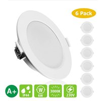 Downlights 6 Pcs LED Recessed Ceiling Lights 6W AC 230V 500lm 3000k Downlight Dimmable Lamp For Indoor Living Room Bathroom Lighting