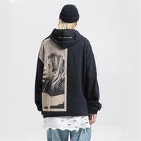 Cobain Nagri Kurt Print Hoodies Мужчины Хип-хоп Повседневная Панк Рок Пуловер с капюшоном Толстовки с капюшоном Улавная Одежда 2021 Мода Хаудяка Топы Ju5k