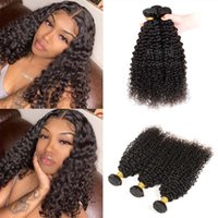 100% capelli umani vergini brasiliani ricci 8-30 pollici profondi ricciolo profondo weavele weaves weaves 3 bundles / pack free nave ping