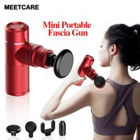 Mini Body Massager Gun Heads 5c Battery High Capacity Life time about 4 Hours Four Levels Speed Equiped Pain Relief Fashion New Luxury