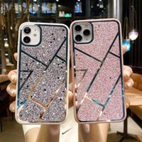 Card Holders The IPhone11promax Mobile Phone Case Electroplating Stripe Glitter 7 8plus Is Suitable For All-inclusive Xs xr Protection