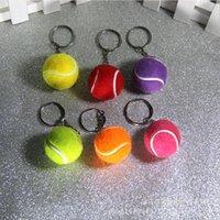 새로운 시뮬레이션 테니스 키 체인, 스포츠 키 체인 펜던트 DMKR175 믹스 오더 키 링