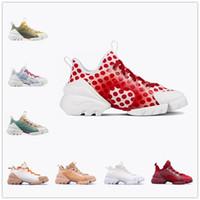 [AVEC BOÎTE] Automne 2021 Dior D-connect Series printing shoes Nouveaux hommes et femmes   d'encre d'épaisseur accrue de la peinture imprimée à lacets de lacets occasionnels