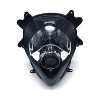 オートバイフロントブラックヘッドライトヘッドランプヘッドライトランプアセンブリ鈴木GSXR 1000 GSXR1000 2007 2008ストリートバイク
