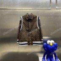 21SS Designer Designer Giacche Lettera Jacquard Spalla Striscia Lettere Vestiti Streetwear Cappotti Cappotti Capispalla Cappuccio con cappuccio Abbigliamento Cotton Black Bianco Blu Xinxin