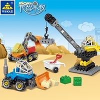 Kaizhi Compatibile Lego Grande particelle di particelle Building Block City Variety Engineering Car Children's Puzzle FAI DA TE Plug In Giocattoli