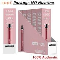 Authentic HQD Cuvie Plus Descartável 1200 puffs pod dispositivo eletrônico cigarros vape kit 950mAh 5ml pré-preenchido