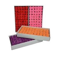 Bon marché Soft 3 couches Spray Spray Savon Savon Fleur Rose Bouquet à la main Cadeau Cadeau Coffret Artificial DIY Fleurs Q0826