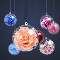 Boule de décoration de Noël acrylique plastique transparent balle boutique de boutique de fenêtre décoration creuse transparente boule de Noël