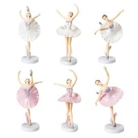 Other Festive & Party Supplies 6 PCS Ballet Girl Miniature Figurine Toy Figurines Playset Cake Toppers Decoration Decor Accessories Wholesal