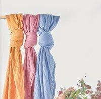 KANGOBABY Cobertor Infantil Cor Pura Gaze Envoltórios Bebê Swaddle Recém-nascido Infantil Soft Delicate Bath Towel Wrap Newborn Wraps Toalhas OWB5123