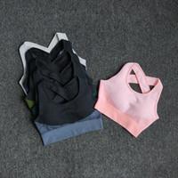 Склад 6 Цветов Yoga Спортивный бюстгальтер Sexy Back Mondded Crossed Relds Top Shock Недостатный Дышащий Фитнес Бег тренажерный зал Жилет Спорт Топ