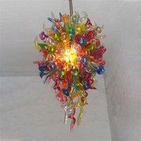 "Contemporary lamps hand blown murano glass chandeliers 24"" x 48"" lightings scandinavian chandelier hanging pendant lighting led modern art decor lights"