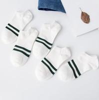 Socke Hausschuhe Four Seasons Bequeme Atmungsaktive Mens Socken Deodorant Niedrig Einfache Mens Socken Gestreifter Druck Sport Männlich