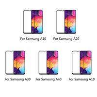 Protetores de tela de celular Protetores de proteção 9h anti-risco Protetor móvel Protetor de vidro temperado Acessórios para A30 A40 A50