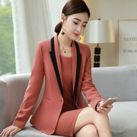 Women's Suits & Blazers Fmasuth 4XL Plus Size Fashions Red Jacket Womens Full Sleeve Patchwork For Office Formal CCYQ6090A