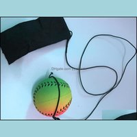 Balls Athletic Outdoor As Sports & Outdoorswholesale Baseball And Softball Arrival Random 5 Style Fun Toys Bouncy Fluorescent Rubber Wrist B