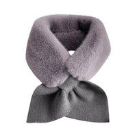 스카프 여성 겨울 레이디 가짜 모피 스카프 순수한 컬러 넥 슬리브 겉옷 두꺼운 숙녀 가짜 칼라 neckerchief 소년 소녀 # yl10