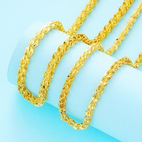 Cadenas 24k Collar de oro para mujeres o hombres Arena Phoenix brillante collares Collares de encanto elegante Joyería fina de la boda