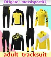 2021 2022 Borussia Adult Tracksuit Calcio Set di calcio completo Zipper Giacca Dortmund Felpa con cappuccio Allenamento Suit Football Set Suite