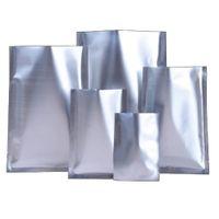 100 pcs fosco prata aberto top saco de folha de alumínio rasgo entalhe o calor do vácuo selo de vácuo de doces chão de café pó embalagem embalagem embalagem