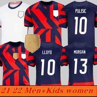 Hommes Femmes Enfants 2021 États-Unis Soccer Jerseys 2022 Rétro Pulisic Dest McKennie Morgan Reyna Adams Weav Musah Lletget 21 22 maillots de football USA Maillots de pied