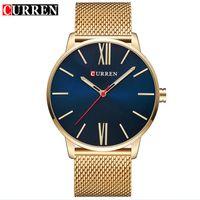Curren Montre homme clássico relógios de quartzo relógios de relógio de relógio de relógio de relógio de relógio de relógio de aço inoxidável relógio macho impermeável Reloj de hombre