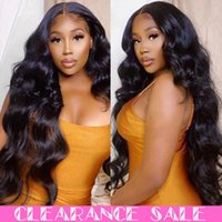 Lace Wigs 13X4 Transparent Frontal Brazilian Glueless Front Human Hair Wavy Body Wave Wig Pre Plucked