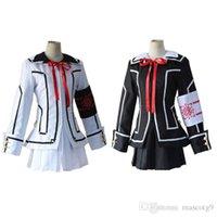 Neue heiße Verkauf Vampir Ritter Cosplay Kostüm Yuki Kreuz Weißes oder schwarzes Damen Kleid Uniform Freies Verschiffen