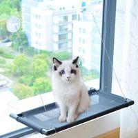 نافذة القط نافش أزهار السرير القط مع نسخة مطورة 4 أكواب شفط، أسلم سرير كبير يمكن أن يحمل ما يصل إلى 50 رطلا
