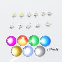 Light Beads 10pcs LED Chip 3W Warm Cool White Red Blue Green Yellow UVA IR Full Spectrum 660nm 440nm COB Grow Lamp For 3 W WaLight