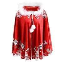 الأوشحة النساء الرجال سانتا مطبوعة أزياء مهرجان أبلى عيد الميلاد ponch مقنعين الشتاء زوجين ارتداء عارضة الدافئة المحمولة اليومية بلا أكمام