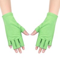 Cycling Gloves Anti-ultraviolet Open-Toed Protection UV Light Lamp Gel Polish Tips Mittens Sport 1 Pair Outdoor