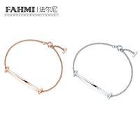 2021 Fahmi Charm 925 Ayar Gümüş Gül Altın Charm Orijinal Minimalist Moda Kadınlar Bilezik Bayanlar Bilezik Hediye