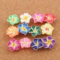 Branelli di fiori di giglio fatto a mano perline colorate polimero argilla plumeria fiori L3104 20mm 100pcs