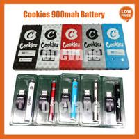 Cookies Batterie Vape Pen Batterie 900mAh VV Vorheiz Slim Twist 510 Thread 2,5-4V DAB Dicke Ölkassette Blister Verpackung Boden Spinner