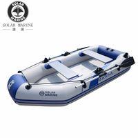 3 Person 260 cm Aufblasbare Ruderboot PVC KAYAK Dinghy Hovercraft Angelkano Drifting Floß Surfing Segelschiff Für 3 Personen