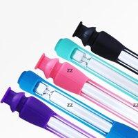 5 Farben Silikon Glasrohr Kreative Tragbare Filter Zigarettenhalter Haushalt Rauchen Zubehör Exquisite Geschenk liefert HWF8755