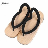 New Women Flip Flops Slippers Japanese Geta Verano Sandalias planas de madera Sauna Spa zapatillas Geta Cosplay zapatos baratos zapatos baratos para mujeres Compre H5BV #