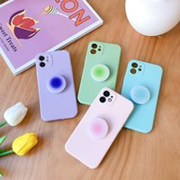 Lens Camera Protection Phone Cases with Kickstand For iPhone 12 11 Pro Max Xs Xr 7 8 Plus Candy Color Soft Cover