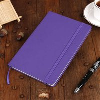 Notepads Hardcover A5 College Ruled Thick Classic Writing Notebook PU Leather with Pocket Elastic Closure Banded 13.8*20.7 100sheets L1TK