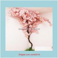 Flowers Wreaths Festive Party Supplies Home & Gardenartificial Vine Fake Cherry Blossom Flower Branch Sakura Stem For Event Wedding Tree Dec