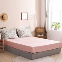 Sheets & Sets Fashion Bedroom 100%Cotton Fitted Sheet Mattress Cover Four Corners With Elastic Bedspread Bed Twin Full Queen Lining