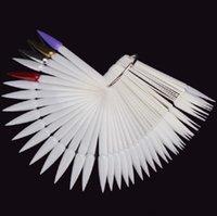 Nail Art Kitleri Lehçe Paleti 50 adet / paket Keskin Diş Şeklinde Plaka İpuçları Sopa Ekran Uygulama Jel Tasarım Kurulu Araçları