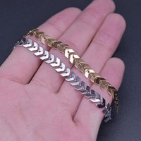 Chains 1Meter 6mm Stainless Steel Boho Arrow V Shape Chain Necklaces Wheat Ear Choker Diy Women Party Gift Jewelry Finding