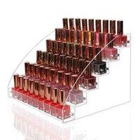 Multilayer-Acryl-Nagellack-Rack-Tabletop-Display-Stand-Ständer Klarer Lippenstifthalter Ätherisches Öle Regal Makeup-Speicherorganisator