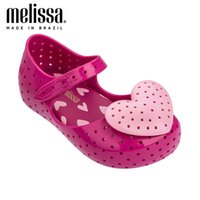 Mini Melissa Güzel Kalp Kız Jöle Ayakkabı Sandalet Yeni Bebek Ayakkabı Yumuşak Alt Melissa Sandalet Çocuklar için Kaymaz Prenses 210305