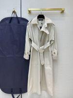 2021 Milan Runway Trench Coats Revers Neck Langarm Marke Gleiche Stil Trenchcoats Frauen Designer Mäntel 0228-16